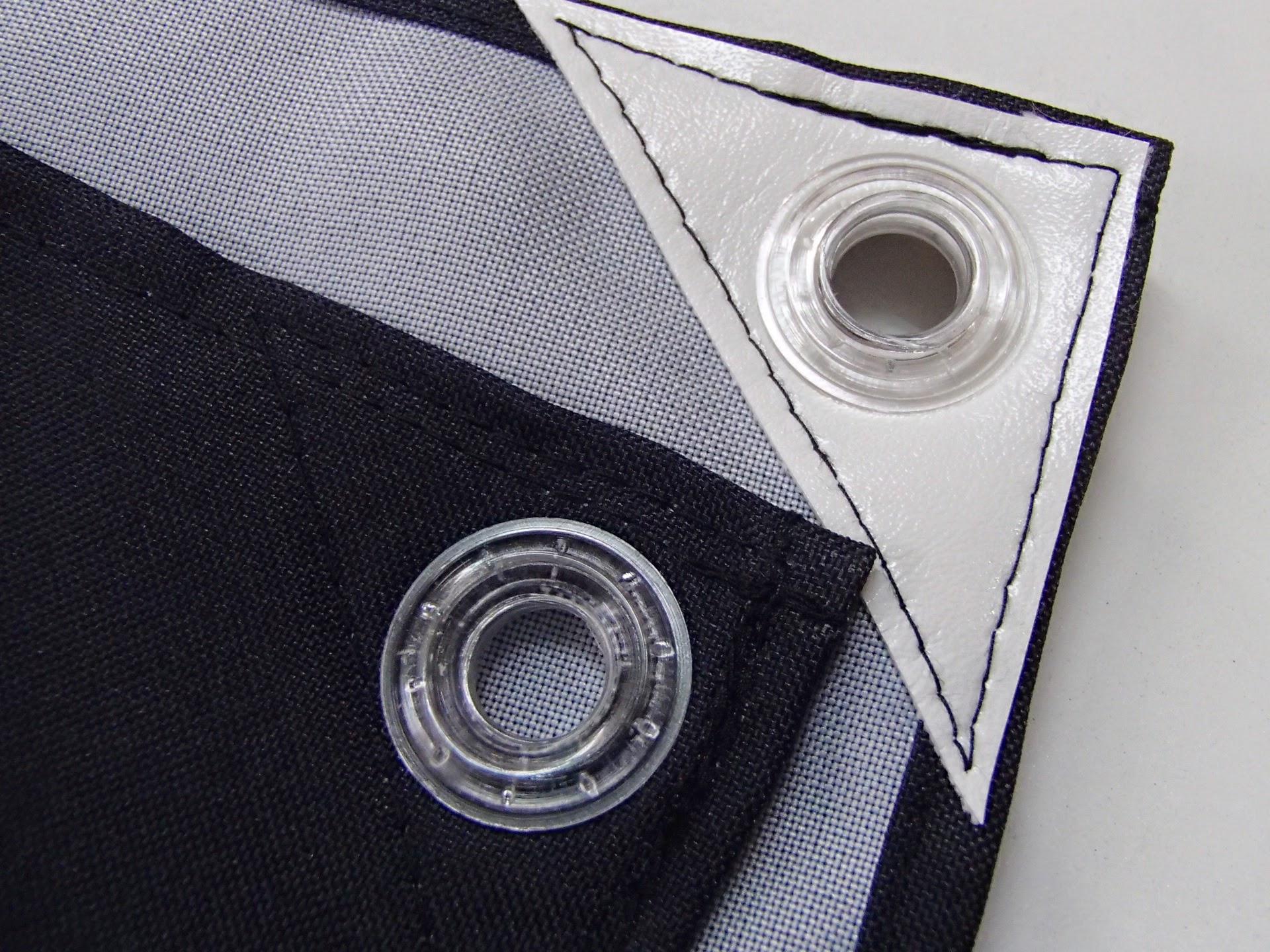 三巻縫製 ウラ面合皮補強 透明ハトメ